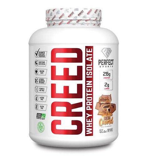 perfect sports titan 4.4lb creed whey isolate protein powder