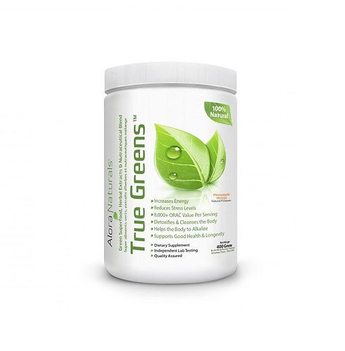 alora naturals 400g true greens to increase energy, and reduce stress