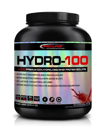 pro line advanced nutrition 4.5lb hydro-100 hydrolyzed whey protein isolate powder