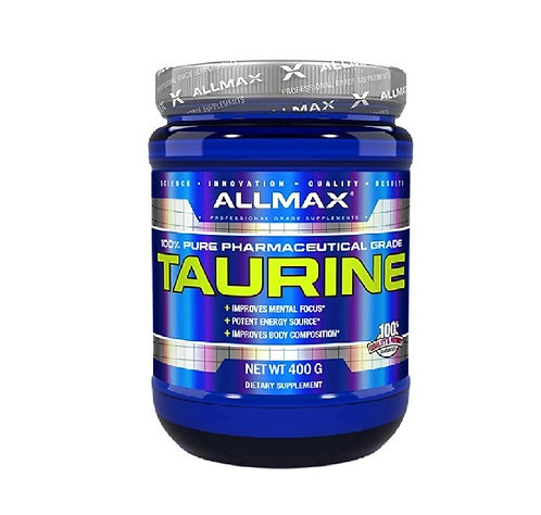 allmax 400g taurine for focus and energy