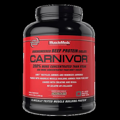 musclemeds 4lb carnivor bioengineered beef protein isolate powder