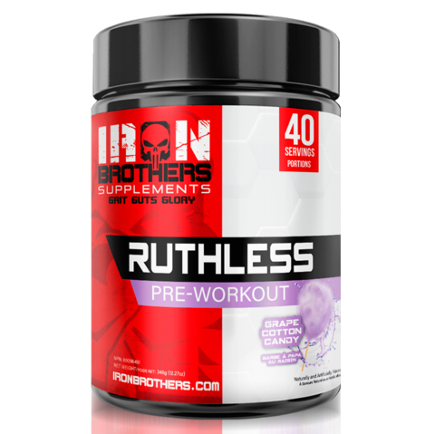 Iron Brothers supplements Ruthless Grape Cotton Candy Pre-Workout