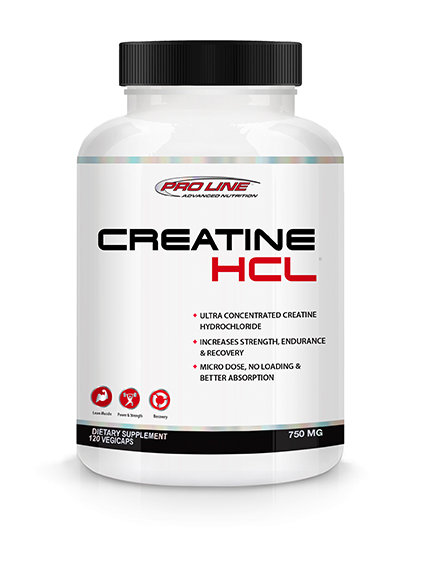 pro line advanced nutrition 120 vegicaps creatine hcl