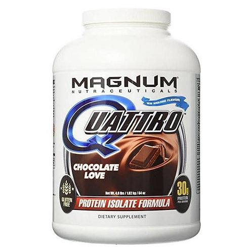 magnum nutraceuticals 4lb quattro gluten free protein isolate formula powder
