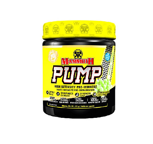 mammoth pump 30 servings pre-workout