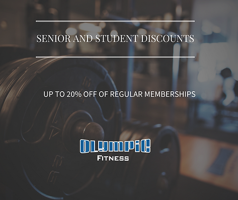 Senoir and Student gym discounts