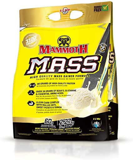 mammoth mass 5lb weight gainer bag
