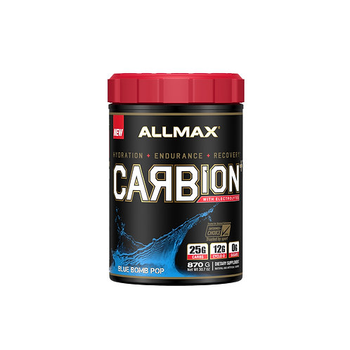 allmax 870g carbion for hydration, endurance and recovery