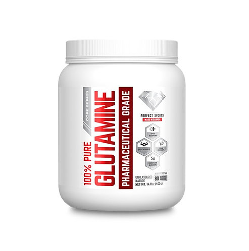 perfect sports titan 400g unflavoured vegan glutamine for recovery