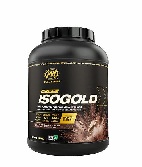 pvl 5lb isogold premium whey protein isolate shake powder