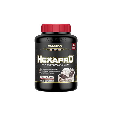 allmax 5lb hexapro ultra-premium 6-protein blend 8 hour release powder