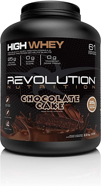 revolution 5lb high whey concentrate protein powder