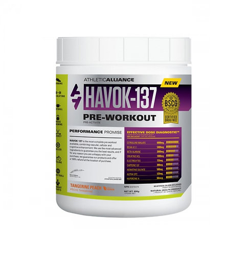 athletic alliance havok-137 pre-workout