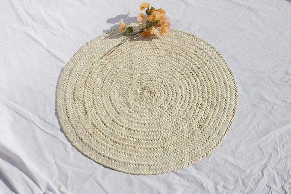 Round straw mat