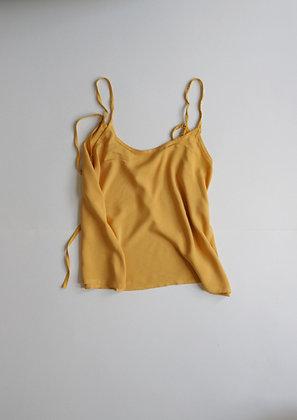 Mustard yellow tie top
