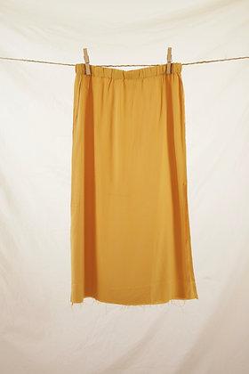 Mustard yellow cropped maxi skirt