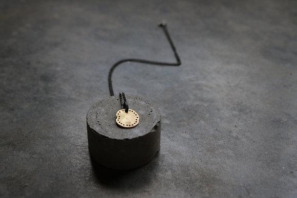 Diamond Botrys gold necklace