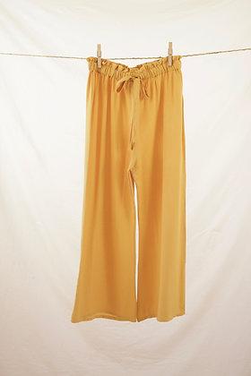 Mustard yellow high-waisted pant