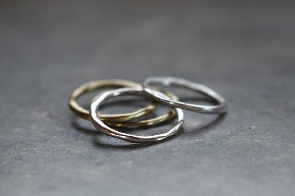Raw silver ring No.1