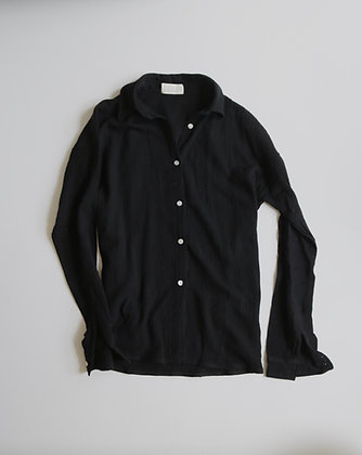 Tetra black buttoned shirt