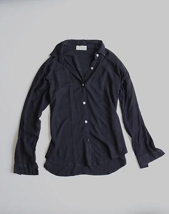 Black buttoned shirt