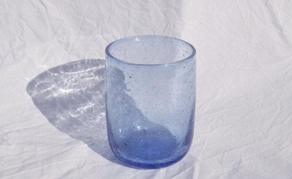 Blue raw glass