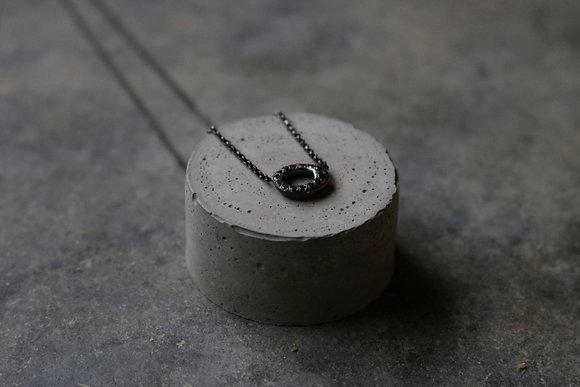 Diamond embellished pendant necklace