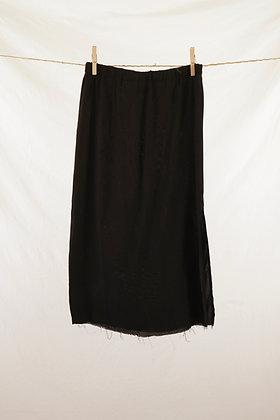 Black cropped maxi skirt