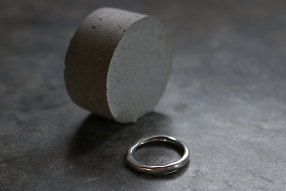 Raw silver ring No.4