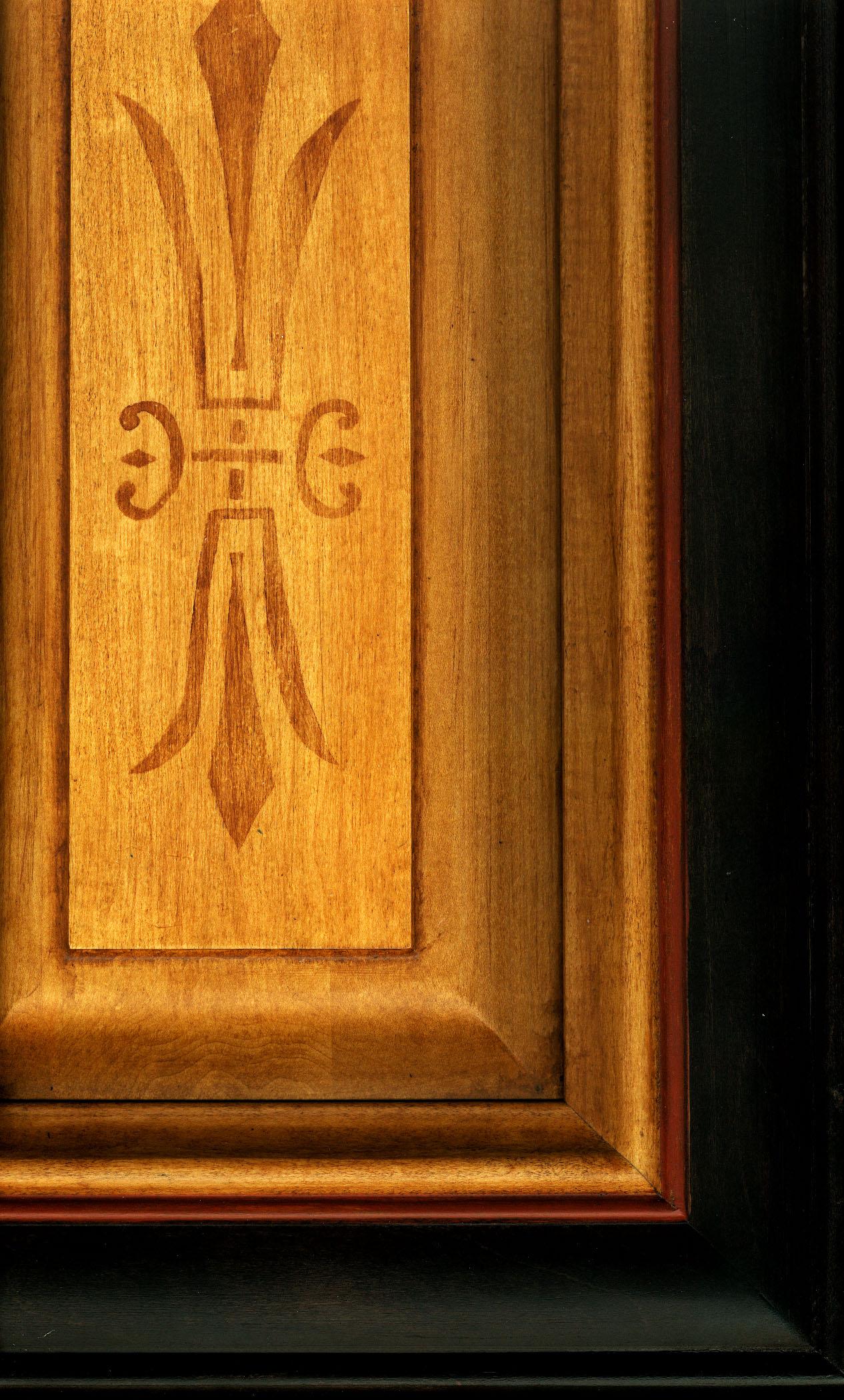 Cabinet stencil detail