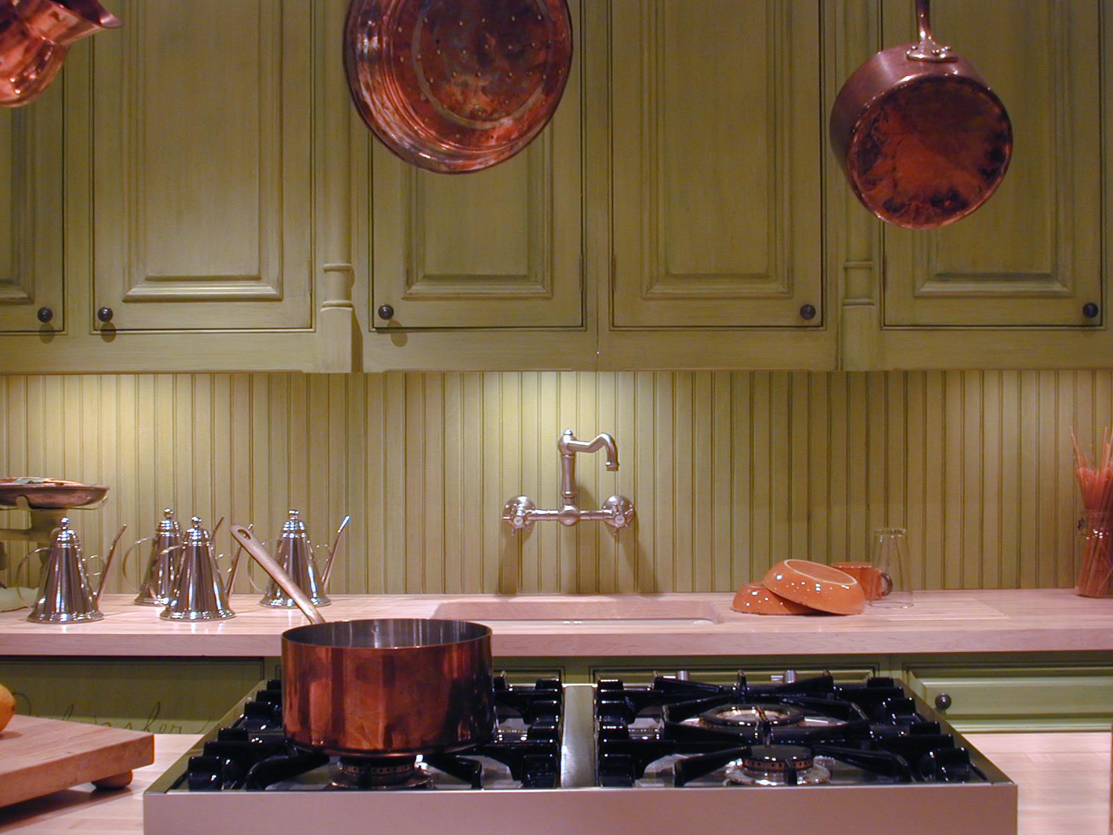 Hand finished cabinets/backsplashes