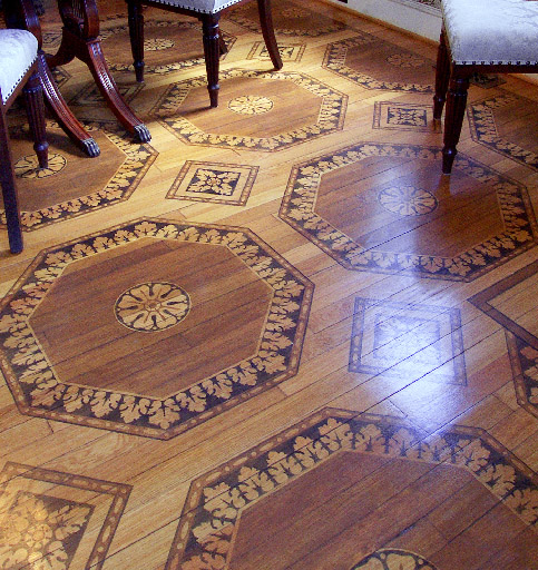 Floor stencil detail