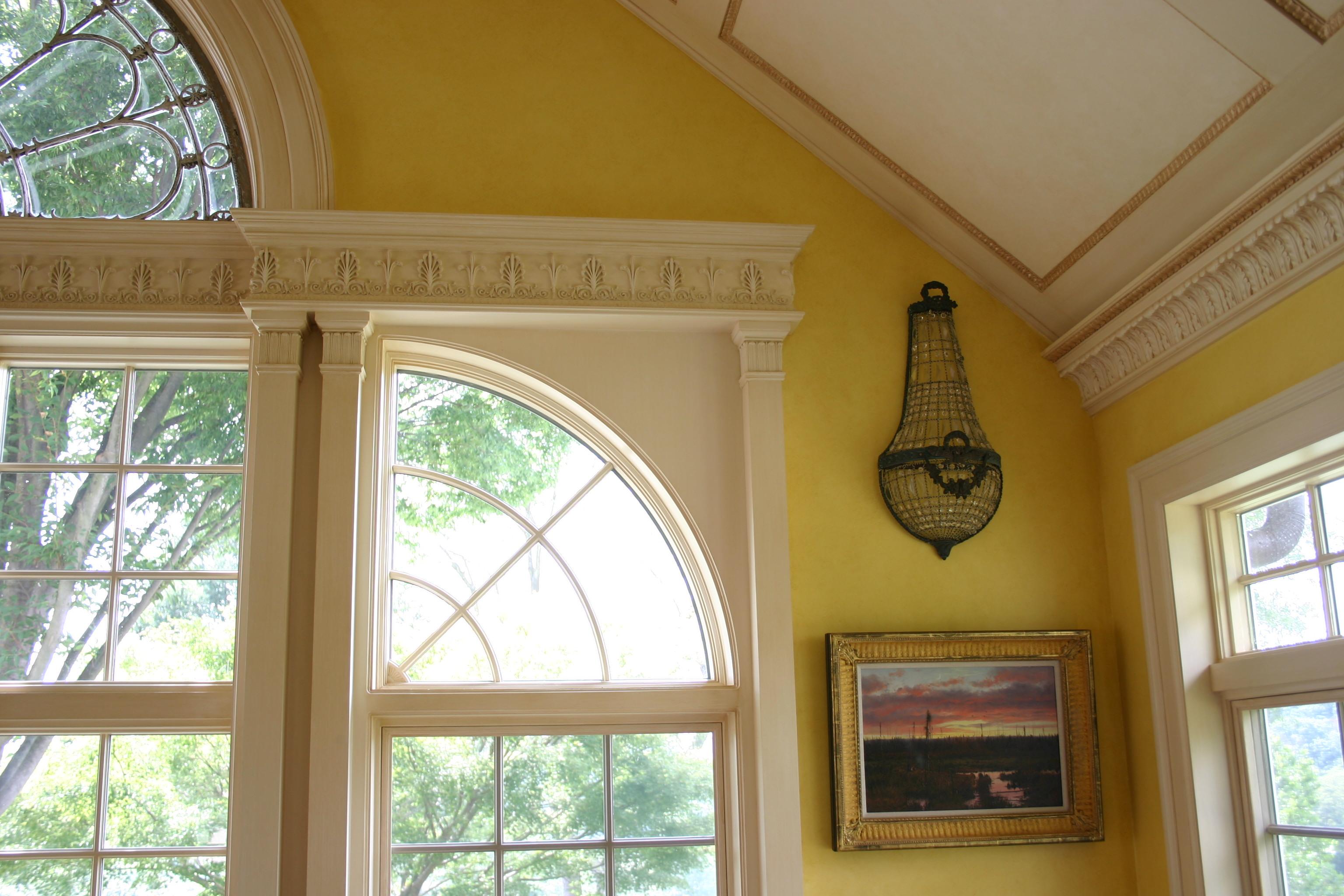 Composition ornament on trim