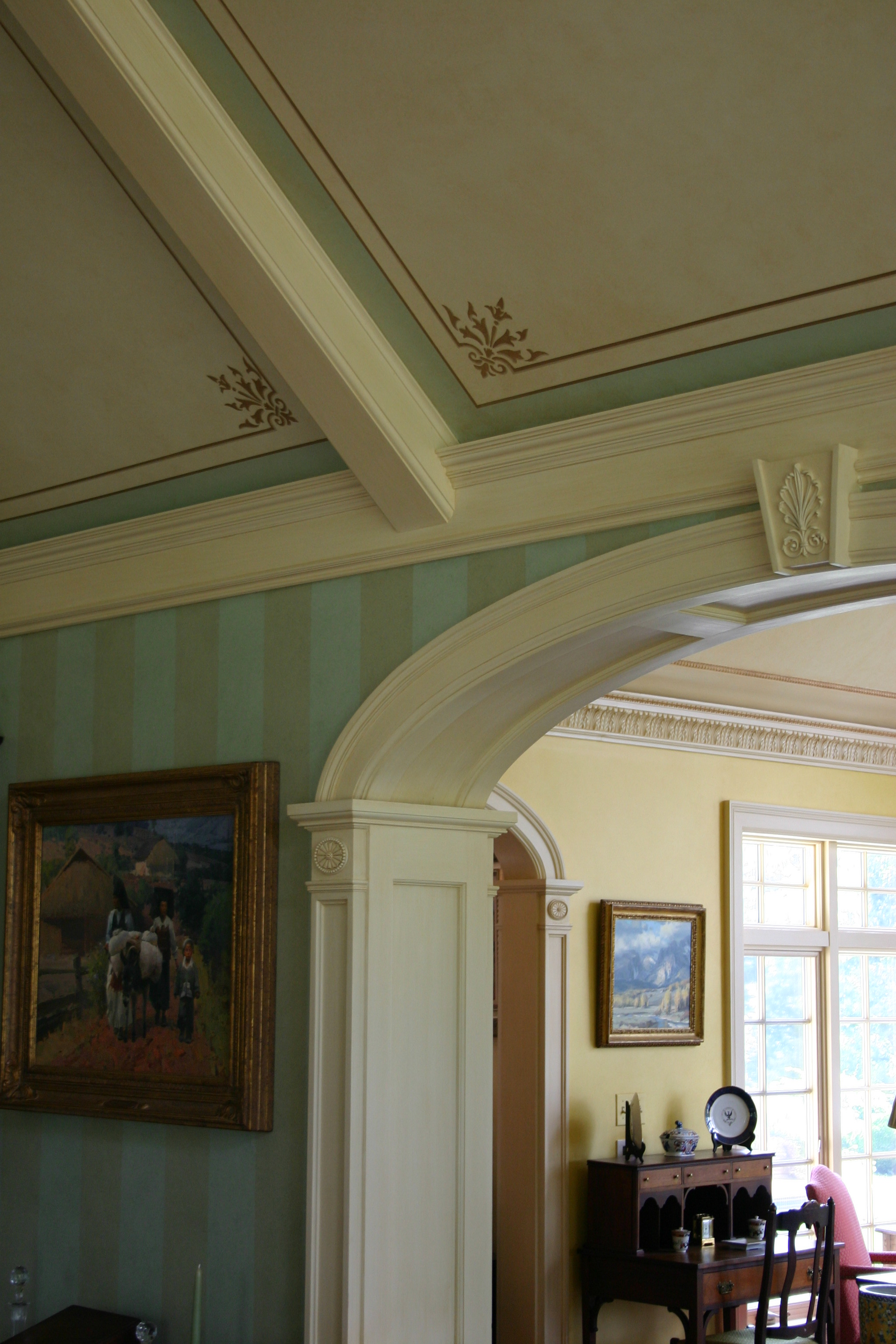 Coffered ceiling border