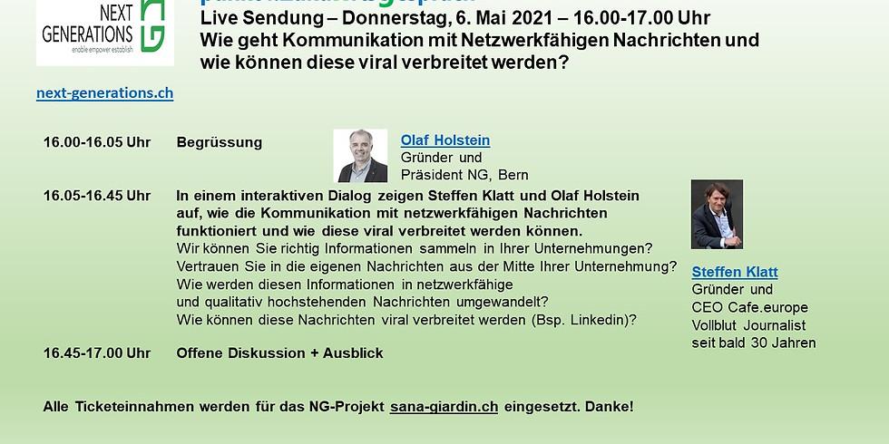 Punkt4.Zukunftsgespräch - Live Web  - Do 6.5.21 - 16.00-17.00 Uhr