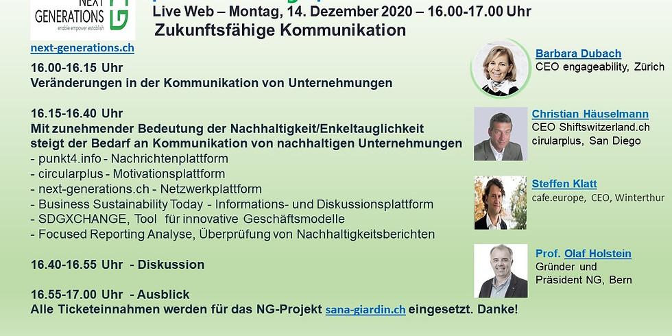 Punkt4.Zukunftsgespräch - Live Web  - Mo 14.12.20 - 16.00-17.00 Uhr