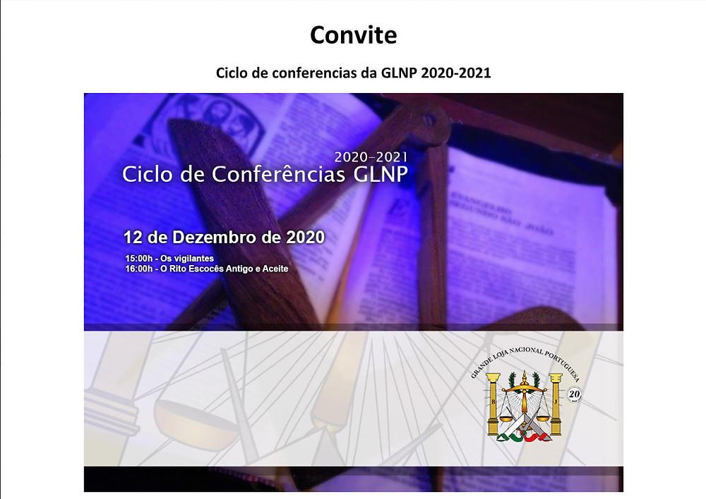 Maçonaria Regular e Tradicional - Ciclo de Conferências da GLNP 2020 - 2021 | 3º Conferência