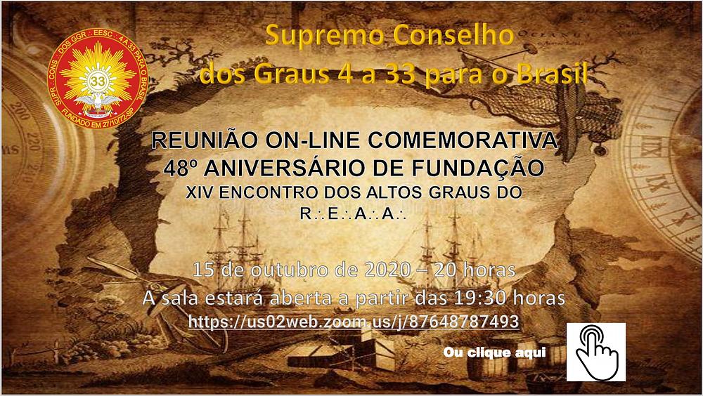 48º Aniversário Comemorativo da Fundação do Supremo Conselho São Paulo, Brasil