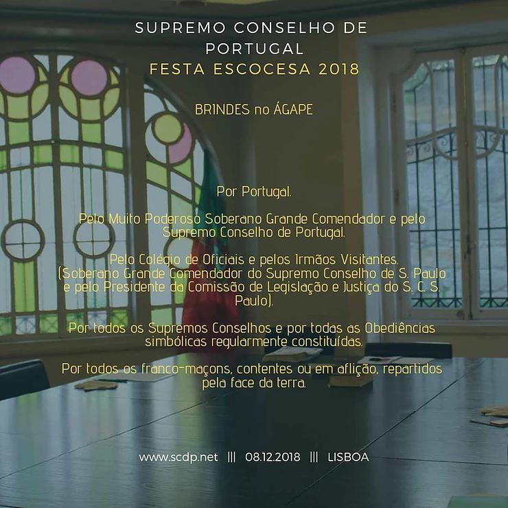 Brindes | Supremo Conselho de Portugal | Festa Escocesa 2018