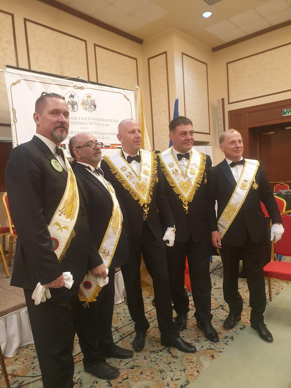 Membros de vários Supremos Conselhos que fazem parte da AIME | IMAGEM | 14 e 15.09.2019