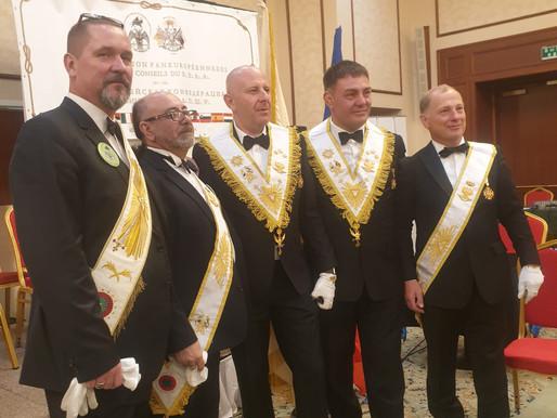 Membros de vários Supremos Conselhos que fazem parte da AIME   IMAGEM   14 e 15.09.2019