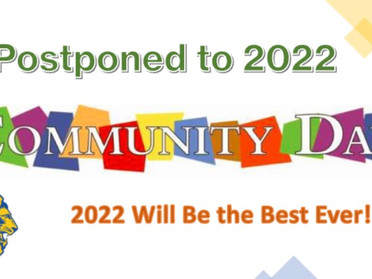 Community Day Postponed to 2022