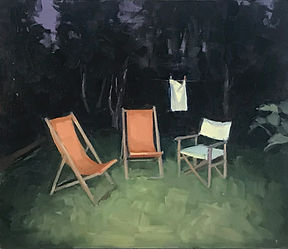 Marie Mansfield_11pm_Oil on board_35x40c