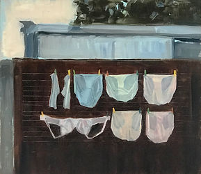 Marie Mansfield_Wash day_Oil on board_35