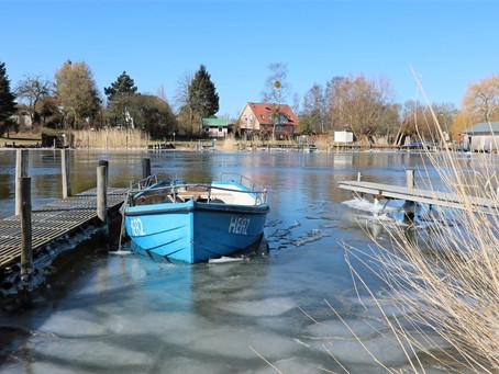 """In Stolpe auf Usedom:"""" Vom Eise befreit sind Strom und Bäche,..."""""""