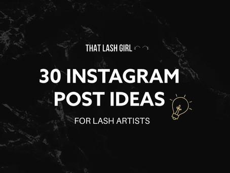 30 Instagram Post Ideas