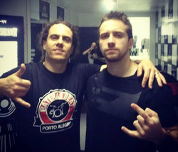 With Eloy Casagrande (Sepultura)