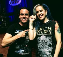 With Alissa White-Gluz (Arch Enemy)