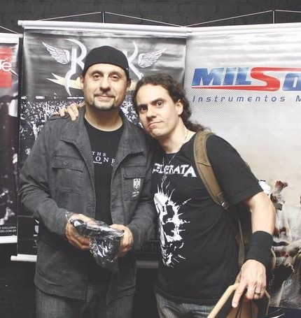 With Dave Lombardo (former Slayer)