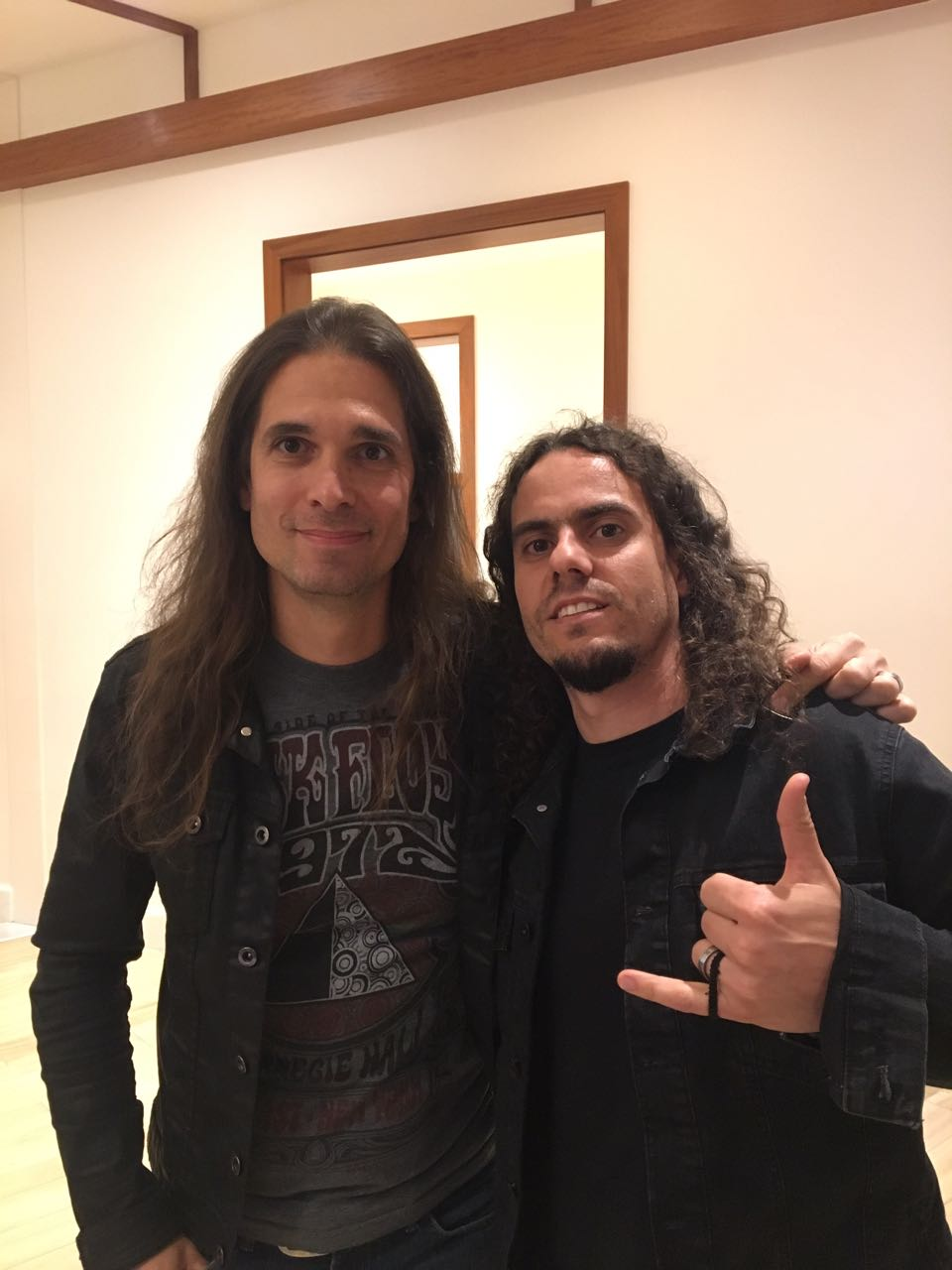 With Kiko Loureiro (Megadeth)